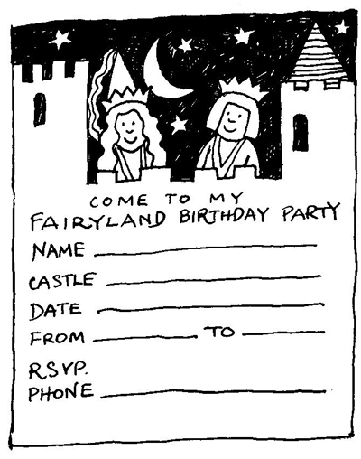 Fairyland Party Invitation