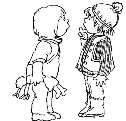 Attractive Coloring Pages Kids Talking Image