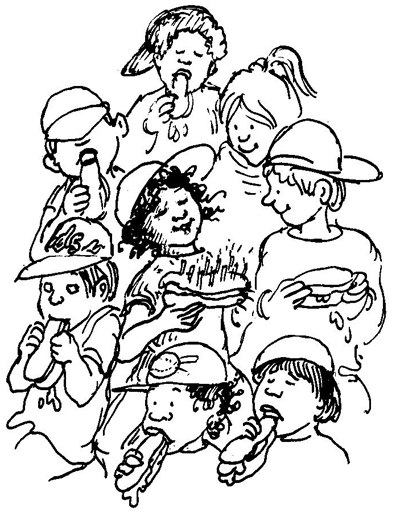Baseball Party Illustration